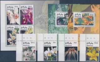 2007 Orchideák ívsarki sor + kisív Mi 4581-4588 + 2 blokk Mi 608-609