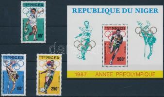 1987 Nyári olimpia, 1988 sor Mi 1015-1017 + blokk 50