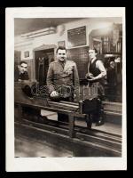 cca 1940 Tekézők fotó / bowling players 9x12 cm