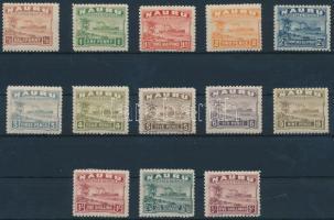 1924 Forgalmi sor záróérték nélkül Mi 15-27 II