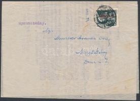 1946 (6.díjszabás) Nyomtatvány Betűs (I) Any.I/1f bérmentesítéssel