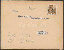 1946 (6.díjszabás) Távolsági levél Betűs (I) Tl.I/10f bérmentesítéssel