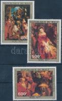 1977 Karácsony, Rubens festmények sor Mi 612-614
