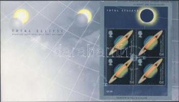 1999 Teljes napfogyatkozás blokk Mi 7 FDC