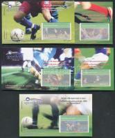 2003 Sporthilfe Labdarúgás 5 klf bélyegfüzet 1-1 négyestömbbel Mi 2324-2328