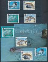 1986 WWF Mediterrrán barátfóka sor Mi 871-874 + CM + 4 FDC-n