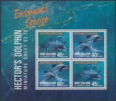 Hector dolphin block + FDC, Hector delfin blokk + FDC-n