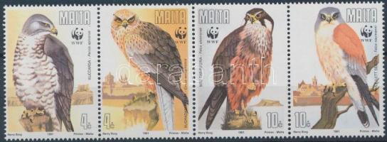 1991 WWF Ragadozómadarak négyescsík Mi 864-867 + 4 FDC