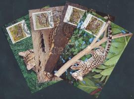 1988 WWF Ocelot négyescsík Mi 1734-1737 + 4 CM + 4 FDC-n