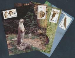 1985 WWF Vidra sor Mi 3107-3110 + 4 CM + 4 FDC