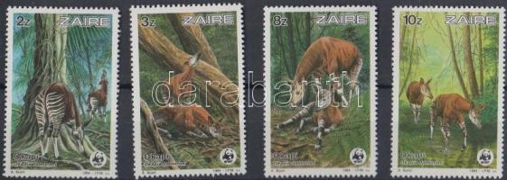 1984 WWF Okapi sor Mi 875-878 + 4 CM + 4 FDC