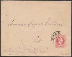 1870 5kr levélen POZEGA - PEST