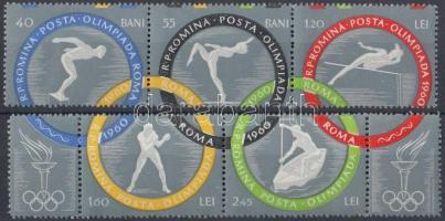 Nyári Olimpia, Róma sor kettes-, és hármascsíkban, Summer Olympics, Rome set stripe of 2 and 3