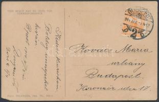 1914 Képeslap 3f bérmentesítéssel