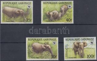 1988 WWF Ázsiai elefánt sor Mi 1009-1012 + 4 CM + 4 FDC-n