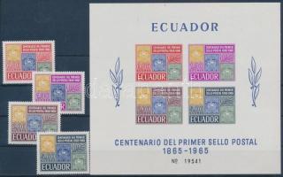 1965 100 éves a bélyeg sor Mi 1186-1189 + blokk 13