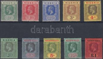 1914/1927 Forgalmi értékek Mi 1-2, 4-6, 8-12