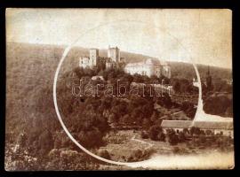 cca 1880 Ausztria, Léka vára, keményhátú fénykép, 11x15 cm / cca 1180 Lockenhaus, Burgenland, Österreich(Austria), 11x15 cm