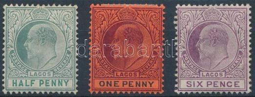 Lagos 1904 Forgalmi Mi 43-44, 48, 52