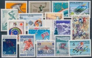 1959-1993 Sport motívum 16 db bélyeg, közte ívszéli
