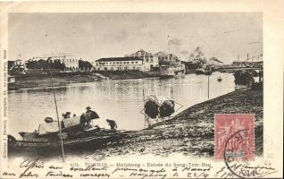 Tonkin, Haiphong, Entry of Song-Tom-Bac, steamships, TCV card