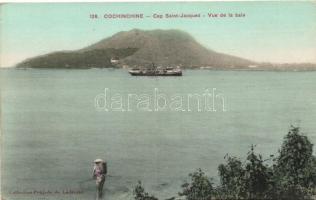 Vung Tau (Cap Saint-Jacques) bay, steamship