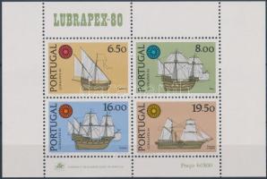 LUBRAPEX '80 International Stamp Exhibition: ships block, LUBRAPEX '80 nemzetközi bélyegkiállítás: hajók blokk