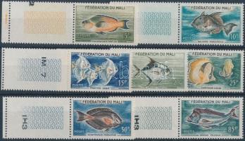 1960 Hal ívszéli üresmezős sor Mi 6-12