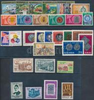 Coins 29 stamps with sets on 2 stock cards, Érmék motívum 29 db bélyeg közte sorok 2 db stecklapon
