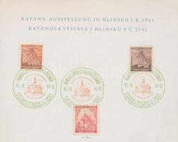 Böhmen und Mähren 1941 Frantirek Kavan festőművész emléklap