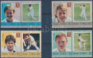 Krikettjátékosok 4 pár Cricket Players 4 pairs