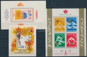 1976-1982 3 klf témájú blokk Mi 66, 119, 125 A
