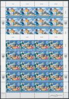 1998 ENSZ békefenntartás sor teljes 20-as ívekben Mi 266-267