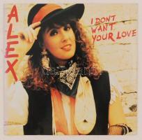 Alex I dont want your love c. album énekesnőjének aláírása saját bakelit lemezének borítóján