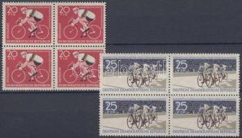 1960 Kerékpár VB 2 négyestömb (sor) Mi 779-780