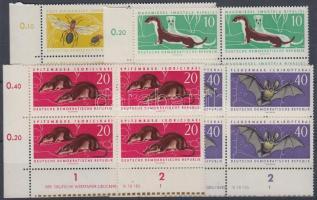 1962 Védett állatok 4 ívsarki négyestömb (sor) Mi 869-872