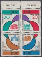 1962 Ifjúsági ünnepi játékok ívszéli négyestömb Mi 901-904