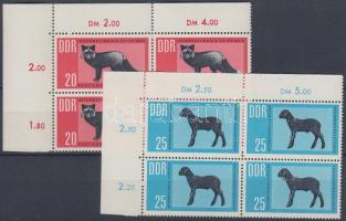 1963 Nemzetközi szőrmeaukció 2 ívsarki négyestömb (sor) Mi 945-946
