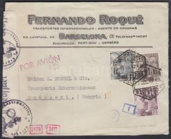 1942 Cenzúrás légi levél Budapestre