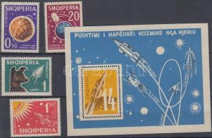 1962 Világűr meghódítása (I) sor Mi 663-666 + blokk 9