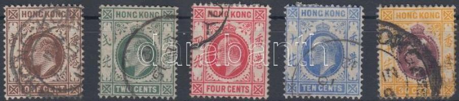 1907 Forgalmi értékek Mi 91-A91-93, 95 (sarokhiba)