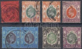 1904 Forgalmi értékek Mi 77-79, 81, 84-85
