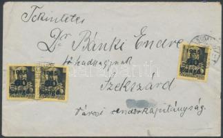 1945 (5.díjszabás) Távolsági levél 2. súlykategóriában Kisegítő III 3x60P/18f bérmentesítéssel