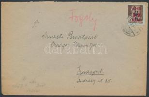 1946 (7.díjszabás) Távolsági levél Betűs II. Tl.2/10f bérmentesítéssel