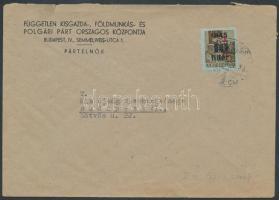 1946 (7.díjszabás) Helyi levél Betűs II. Hl.2/40f bérmentesítéssel