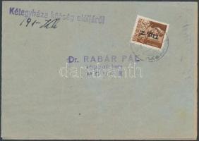 1946 (7.díjszabás) Helyi levél (Kézbesítési vevény) Betűs II. Tlp.2/4f bérmentesítéssel