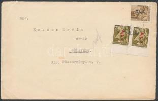 1946 (7.díjszabás) Helyi levél 2. súlykategóriában Betűs I. Tl.I/10f + 2xAjl.I/20f bérmentesítéssel
