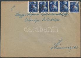 1946 (7.díjszabás) Helyi levél Betűs I. 5xHl.I/50f bérmentesítéssel