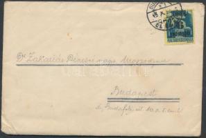1945 (3.díjszabás) Helyi levél Kisegítő II. 6P/50f bérmentesítéssel