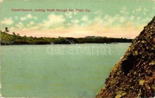 Panama Canal-Channel, looking North through San Pablo cut (EK)